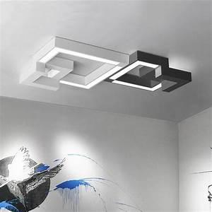 Plafonnier Design Led : plafonnier design led g om trique noir ou blanc plusieurs ~ Melissatoandfro.com Idées de Décoration