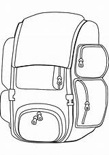 Backpack Coloring Pages Useful Tocolor Bag Drawing Sheets Printable Animal Getcolorings sketch template