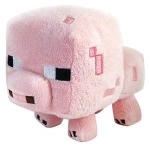 Minecraft Plush Baby Pig, Multicolor