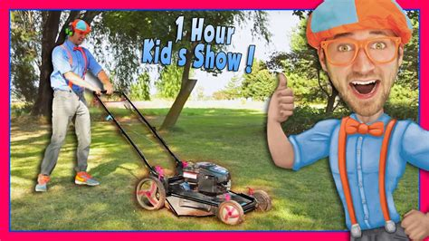 Blippi Videos for Children | Lawn Mower and More! - YouTube