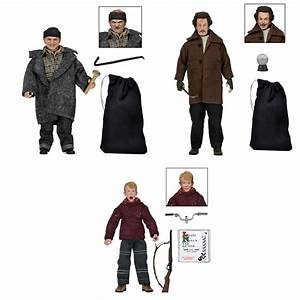 """Home Alone 8"""" Clothed Action Figures Kevin and Wet Bandits"""