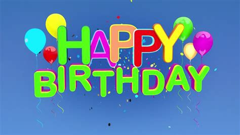 Birthday Card Background 3d by Happy Birthday 3d Animation Stock Footage 2752439