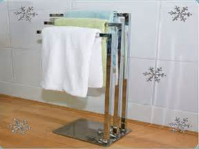 Free Standing Bathroom Towel Rack