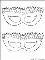 Gras Mardi Mask Coloring Printable Jester Popular sketch template