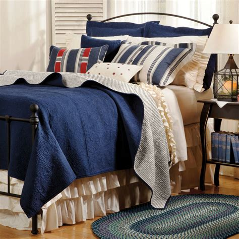 Navy Blue Quilts And Coverlets by Indigo Blue Matelasse Quilt Set 100 Cotton