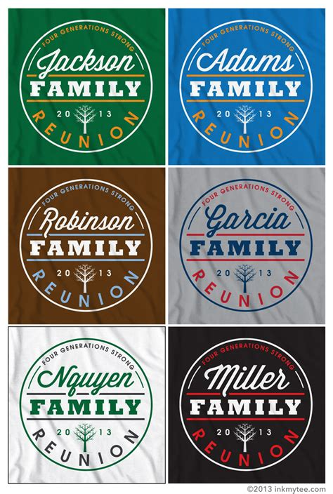 family reunion tshirt design family reunion ink my