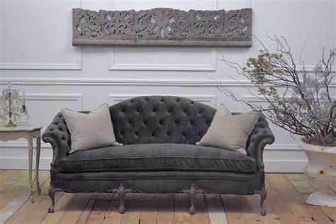 gray velvet loveseat bloom cottage white wednesday