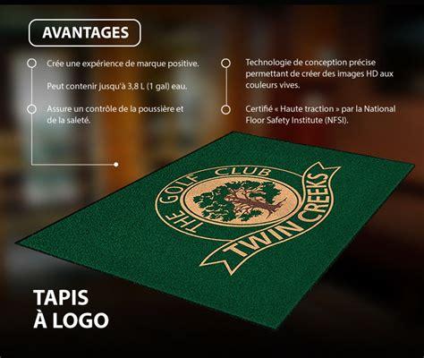 tapis de plancher personnalise avec logo quebec linge