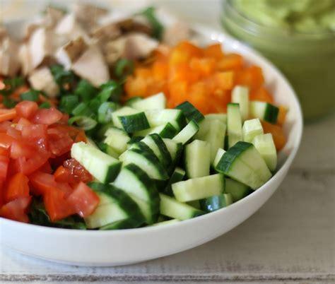 garden salad recipe chopped chicken garden salad w spicy avocado dressing