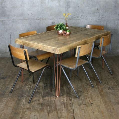 vintage copper dining table home ideas collection