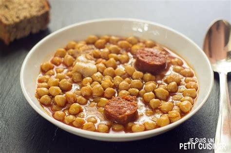 recette de pois chiches au chorizo cuisine espagnole