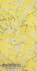 bn tapeten van gogh 12 17143 mandel blute vliestapete gelb With balkon teppich mit van gogh blossom tapete