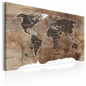 Weltkarte Bild Holz : wandbilder weltkarte holz leinwand bilder xxl landkarte ~ Lateststills.com Haus und Dekorationen