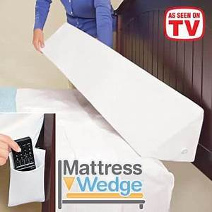 mattress wedge fills the gap between the headboard and the bed With bed gap wedge