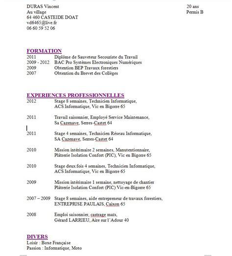 Comment Présenter Un Cv by Le Topic De L Entre Aide Pour Cv Page 16
