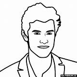 Shawn Mendes Coloring sketch template