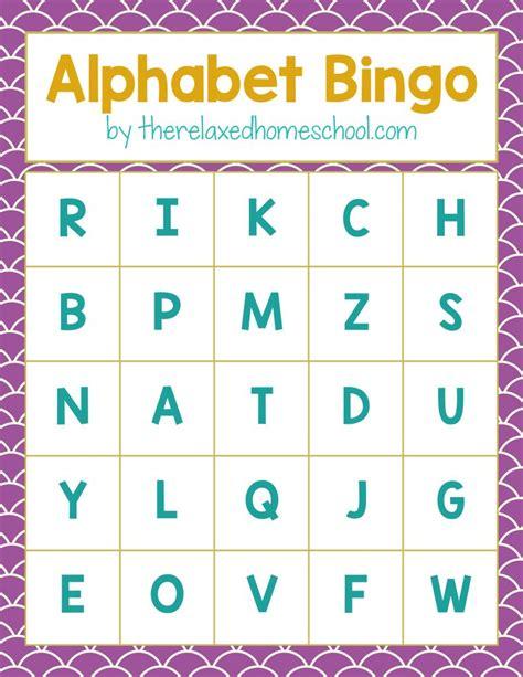 preschool alphabet game free printable alphabet letters bingo here 985