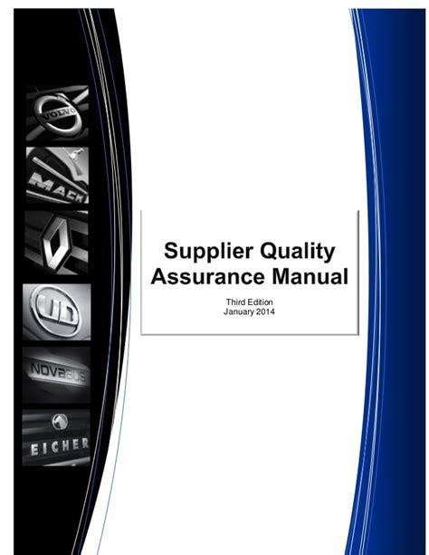 Volvo Supplier Quality Assurance Manualfdf