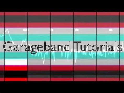 garage band tutorial garage band tutorial how to sle drums using