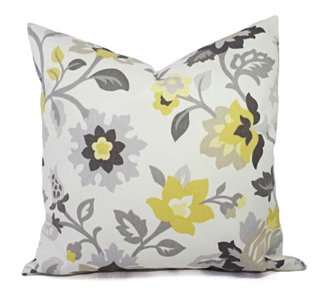 grey decorative pillow two decorative pillows yellow and grey pillow covers