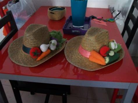 chapeaux decoration fruits et legumes creative