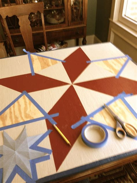 hometalk painting a barn quilt for your garden shed