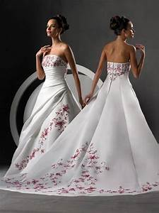Strapless red and white wedding dresses sang maestro for Red strapless wedding dresses