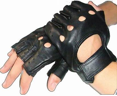 Half Gloves Leather Fingers Finger Glove Driving