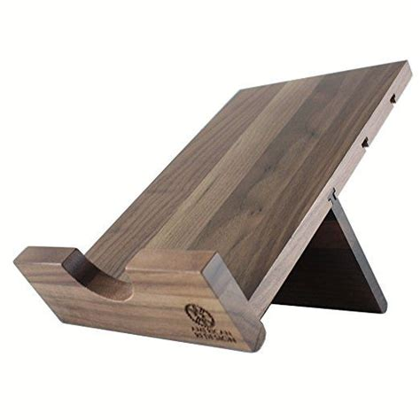 solid wood cookbook stand kitchen ipad holder  tablets