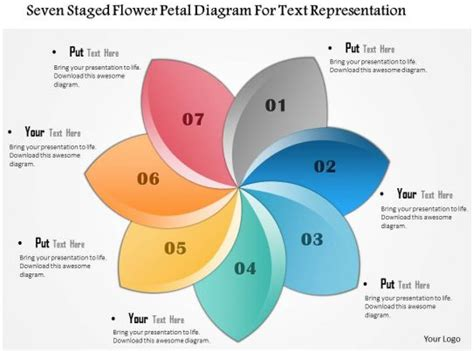 staged flower petal diagram  text