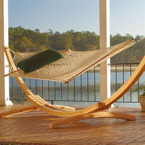 15 foot hammock stand 4 ply cypress arc 15 ft wood hammock stand on