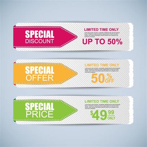 special discount offer price banner vector free vector graphic download