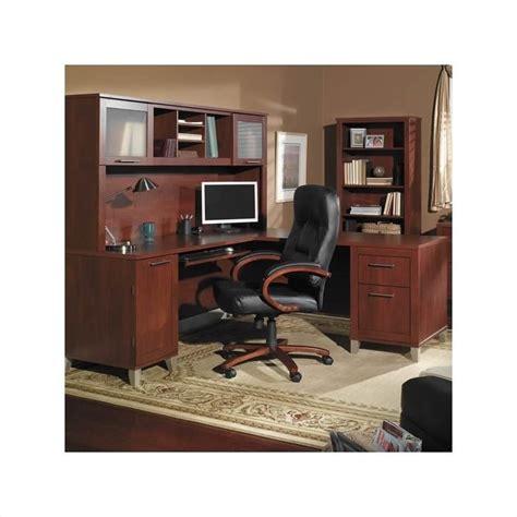 bush somerset 4 piece 71 quot l shape office set in hansen