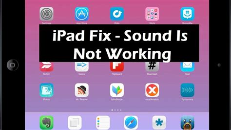 ipad working fix sound