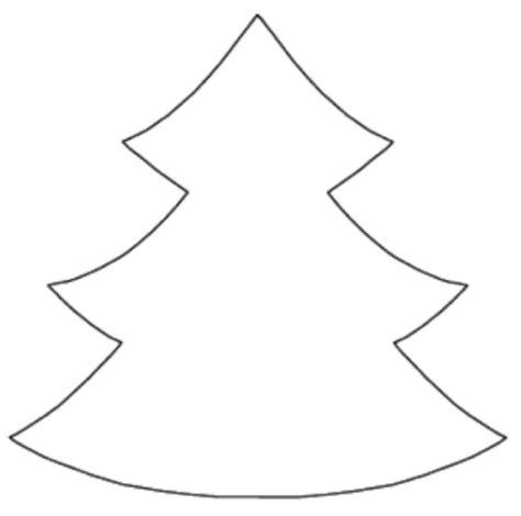 evergreen tree outline christmas tree template printable