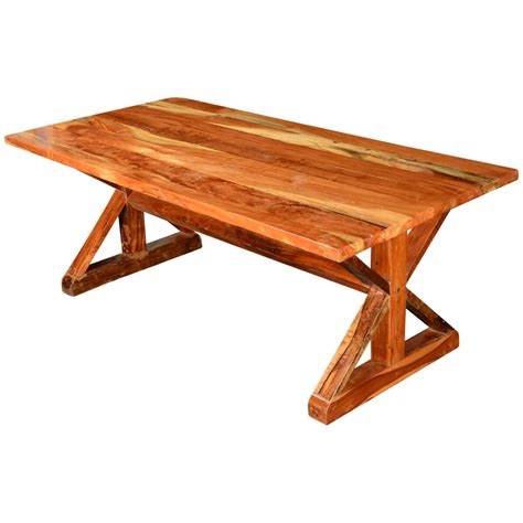 rustic  legs acacia wood  picnic style trestle