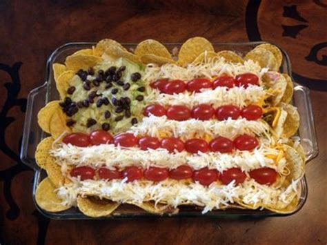 4th of july cowboy appetizer red white blue tacos and american flag on pinterest