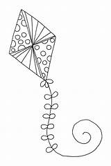 Kite Coloring Pages Printable Drawing Flying Kites Print Getdrawings Chinese Getcolorings Expert sketch template