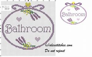 Bathroom bunches of lavender cross stitch pattern free for Bathroom cross stitch patterns free
