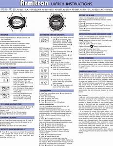 Armitron 45 6967pnk Users Manual Eg16214g1 M296 298