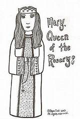 Coloring Rosary Lady Visit sketch template