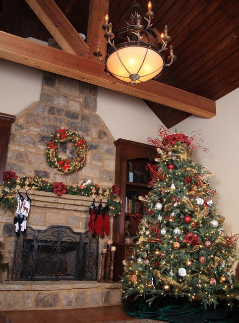 aspen fir rustic christmas tree  living room
