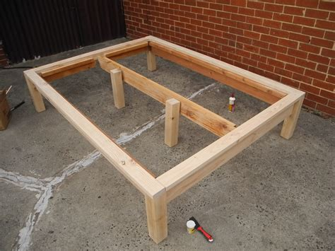 Ana White  Hailey Platform Bed Modified For Recycled Wood