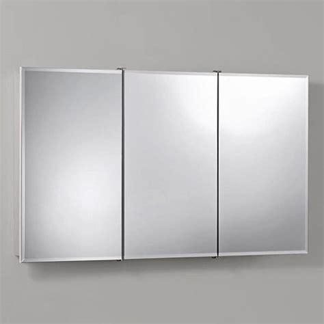broan nutone mirrored medicine cabinets broan nutone ashland tri view 48w x 28h in surface mount