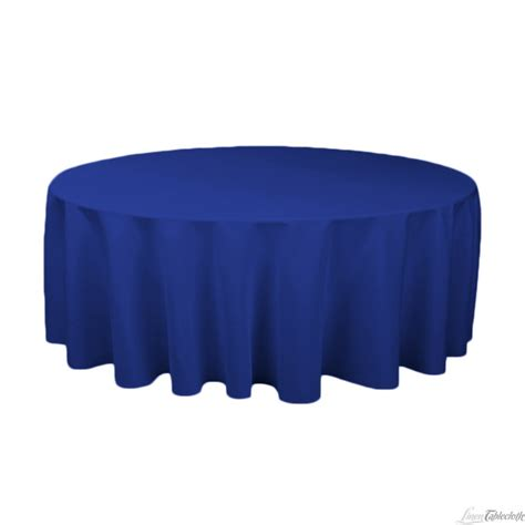 royal blue table linens 132 in round polyester tablecloth royal blue royal blue