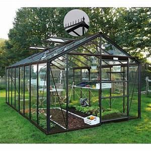 Serre Acier Verre : serre de jardin 18 10m en verre tremp 4mm victorian ~ Premium-room.com Idées de Décoration
