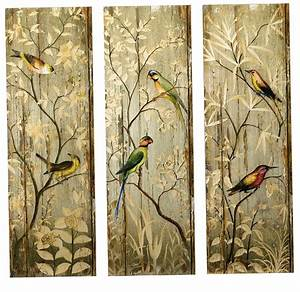 Diy 3 panel wall art home design ideas for Best brand of paint for kitchen cabinets with carved wood wall art panels
