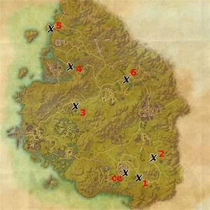 Greenshade Treasure Map Locations Elder Scrolls Online