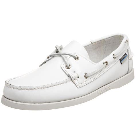 White Boat Shoes by Sebago Mens Docksides Boat Shoe In White For Men Lyst