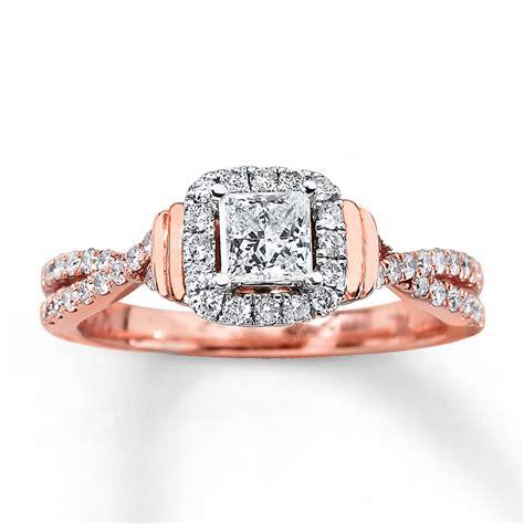 kays engagement ring engagement ring 3 4 ct tw princess cut 14k gold